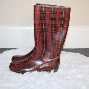 Tartan Rubber Rain Boots